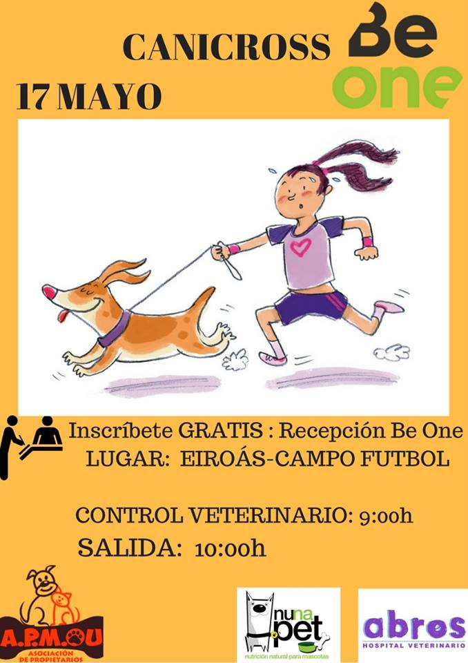 Cartel canicross BeOne Ourense