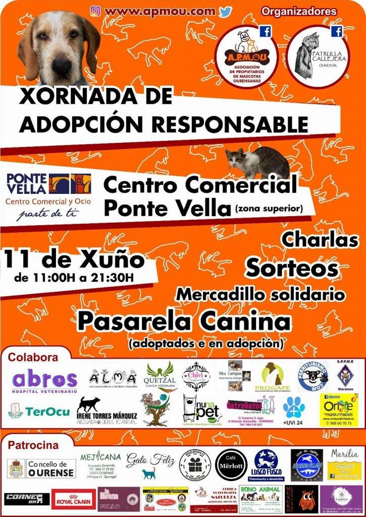 Cartel I Jornada de Adopción Responsable