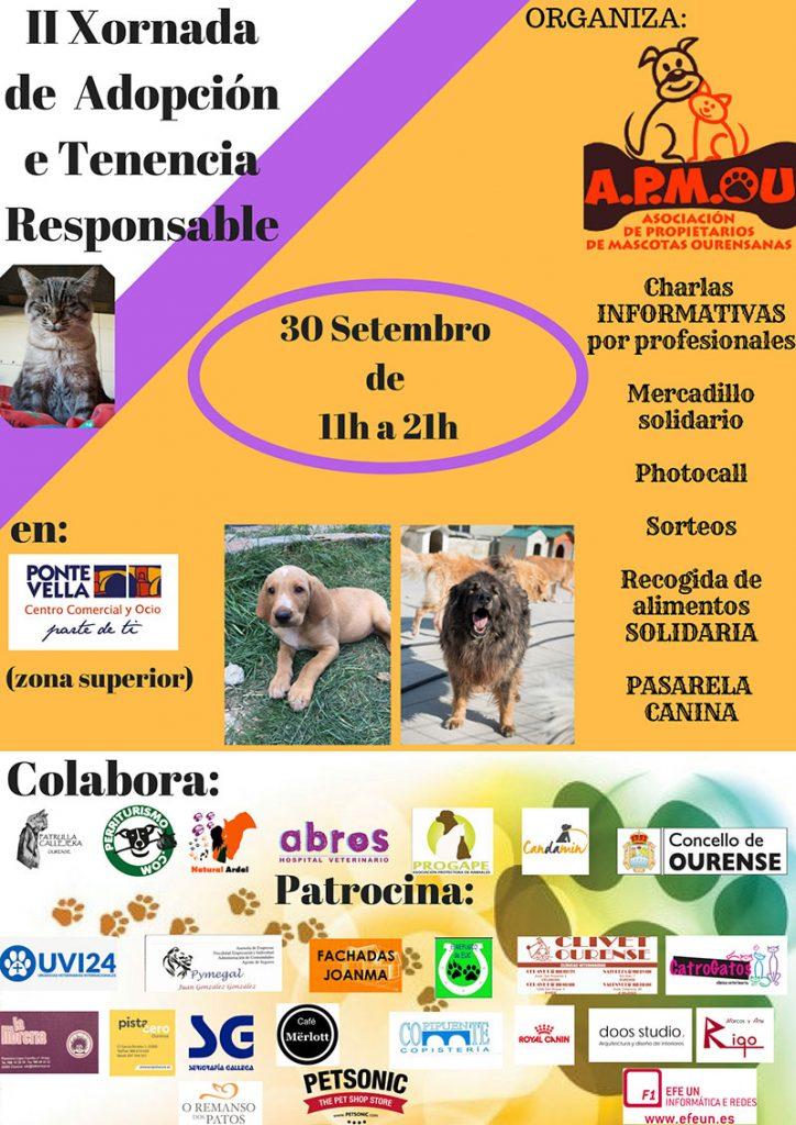 Cartel de II Xornada de Adopción y Tenencia Responsable