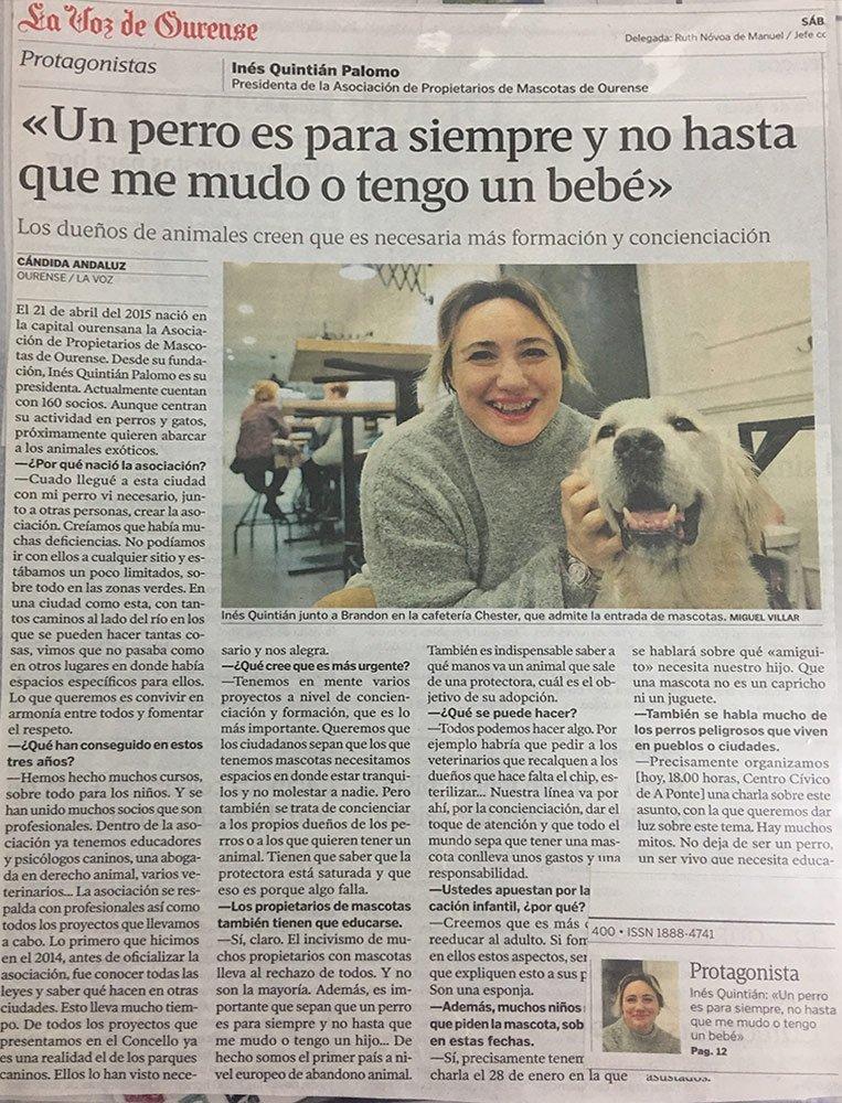 Recorte de prensa de un perro es para siempre
