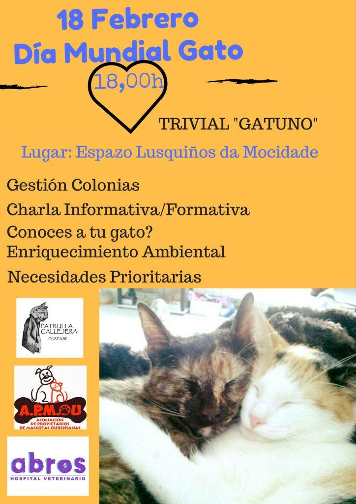 Cartel Día Mundial Gato