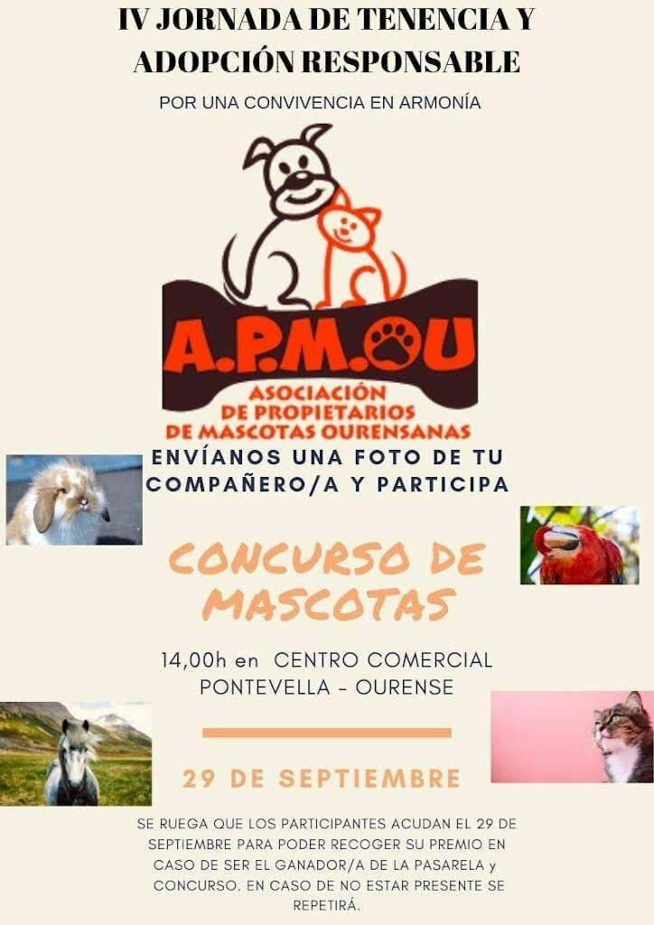 Cartel Concurso Mascotas IV Jornada de Tenencia y Adopción Responsable